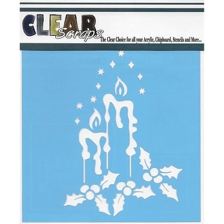 """Clear Scraps Stencils 12""""X12""""-Holiday Candles"""
