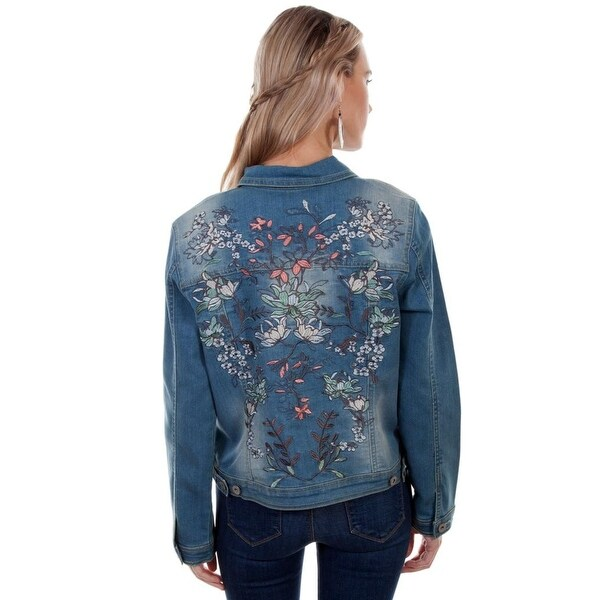 Scully Western Jacket Womens Embroidered Jean Button Front HC342 - Free  Shipping Today - Overstock.com - 25455193
