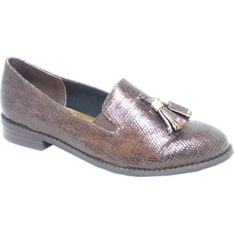 Ros Hommerson Women's Dixie Tassel Loafer Brown Leather