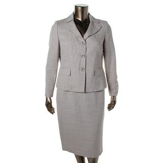 Evan Picone Womens Classic Time 2PC Knee-Length Skirt Suit - 12