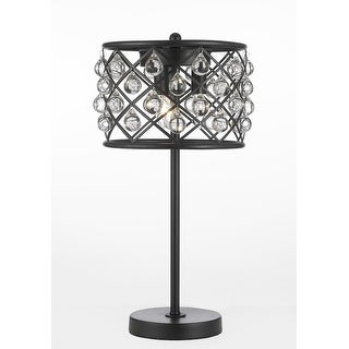 Spencer Table Lamp Crystal Spheres Iron 3 Light Table Lamp Accent Modern Contemporary