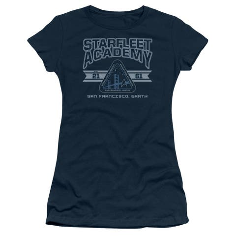 Star Trek Starfleet Academy Earth Juniors Short Sleeve Shirt