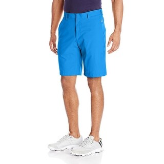 Adidas Men's Puremotion Stretch 3-Stripe Bright Blue/White Shorts B32568 (34 Waist) - 34