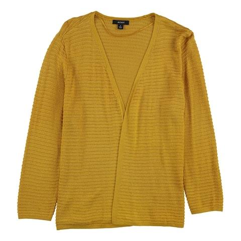 Alfani Womens Textured 3/4 Sleeve Cardigan Sweater
