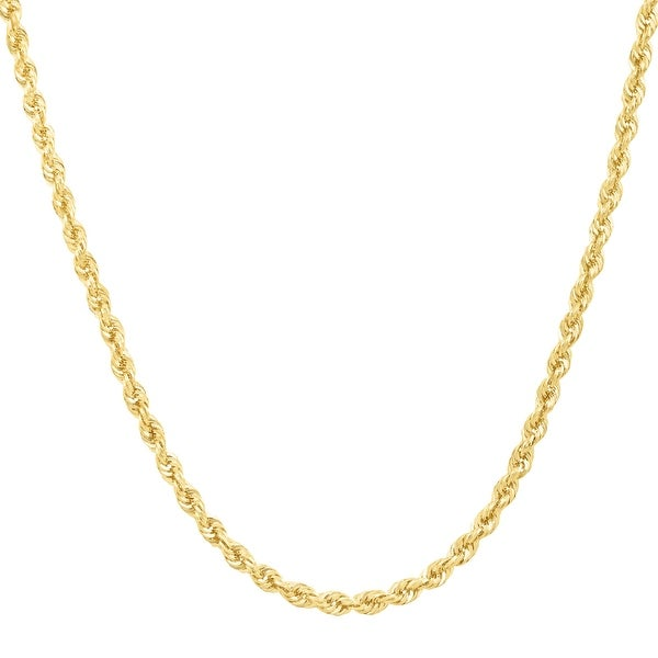 Just Gold 18-Inch Glitter Rope Chain in 14K Gold - Yellow