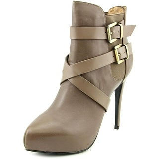 Charles By Charles David Fame Women Pointed Toe Leather Tan Ankle Boot