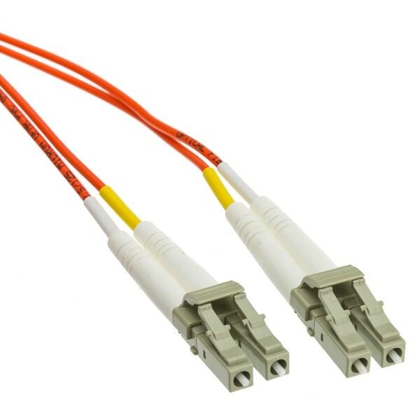 Offex Plenum Fiber Optic Cable, LC / LC, Multimode, Duplex, 62.5/125, 3 meter (10 foot)