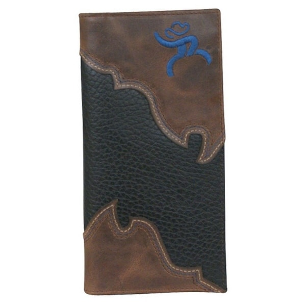 HOOey Western Wallet Mens Rodeo Roughy Signature Brown Black - One size