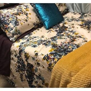 Tribeca Living Casablanca 5-piece Cotton Sateen Floral Oversized Duvet Cover Set