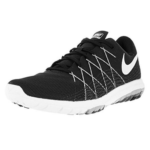 Nike Womens NIKE FLEX FURY 2, BLACK/WHITE-WOLF GREY-DARK GREY, 6.5