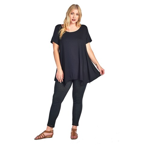 Plus Size Women's Curvy Casual T-Shirt MADE IN USA 1X-3X