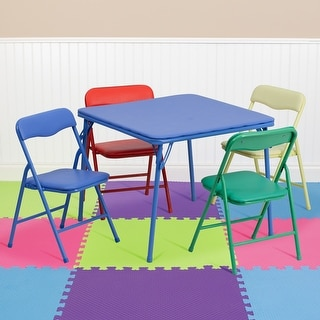 Link to Kids Colorful 5 Piece Folding Table and Chair Set Similar Items in Kids' & Toddler Furniture