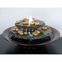 Tranquility Pool Tabletop Fountain Dark Copper Finish