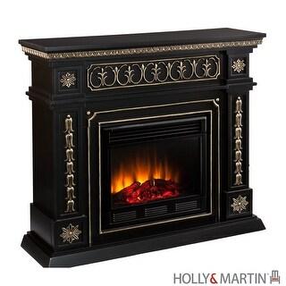 Southern Enterprises FE9661 Donovan Black Electric Fireplace