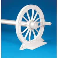 HydroTools Solar Cover Advanced Reel System For In-Ground Swimming Pools - White