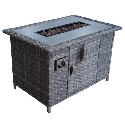 Courtyard Casual Costa Mesa Fire Pit with Door