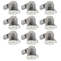 Globe Electric 9100901 Single Light 12 Inch Wide Recessed Lighting Trim and Housing Package IC Rated-Pack of 10
