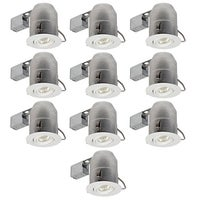 Shop globe electric 90540 4 recessed lighting kit combo 10 pack globe electric 9100901 single light 12 inch wide recessed lighting trim and housing package ic rated aloadofball Image collections