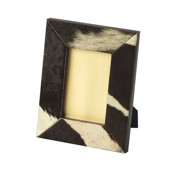 Offex Modern Hair-On-Hide Rectangular Picture Frame - Multicolor