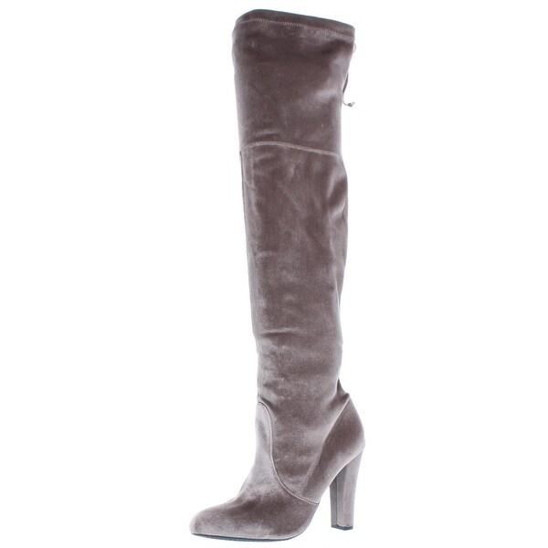 Shop High Steve Madden Womens Gorgeosv Over-The-Knee Boots Velvet High Shop Shaft - - 22581503 32c1b5