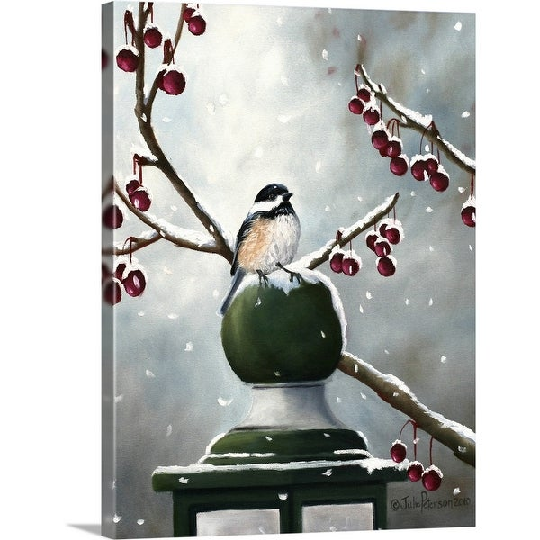 """""""Chickadee In The Snow"""" Canvas Wall Art"""