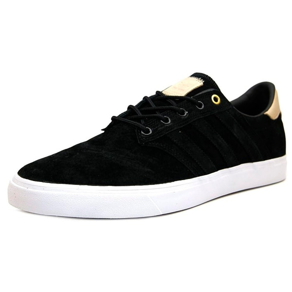 Adidas Seeley Premiere Classified Men Round Toe Suede Black Sneakers