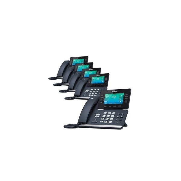 Yealink SIP-T52S 12 Line VoIP Corded Voice Over IP Phone- 5 Pack