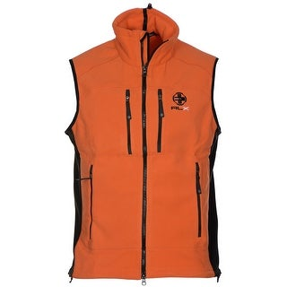 Ralph Lauren RLX Full Zip Fleece Vest Bright Orange X-Large