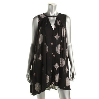 Free People Womens Printed Sleeveless Casual Dress - M
