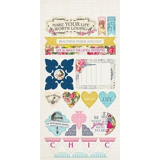 "Accents - Dame Double-Sided Cardstock Die-Cut Sheet 6""X12"""