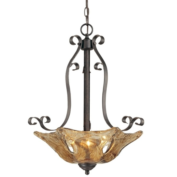 Millennium Lighting 7143 Chatsworth 3 Light Pendant - Burnished Gold