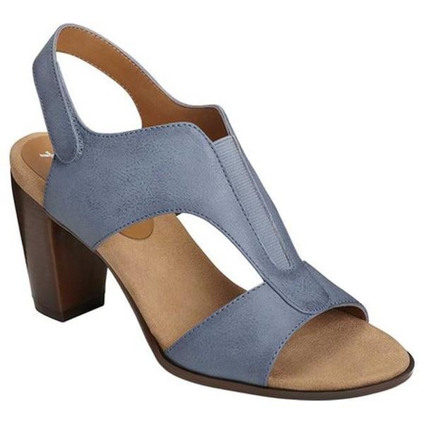4e1d6a08e86 A2 by Aerosoles Women  x27 s Power Yoga Slingback Sandal Chambray Blue Faux  Leather