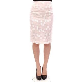 Koonhor White Sequined Straight Pencil Skirt
