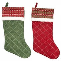 Nordic Knitted Christmas Stocking