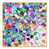Pack of 6 Metallic Multi-Colored Balloon and Star Celebration Confetti Bags 0.5 oz.