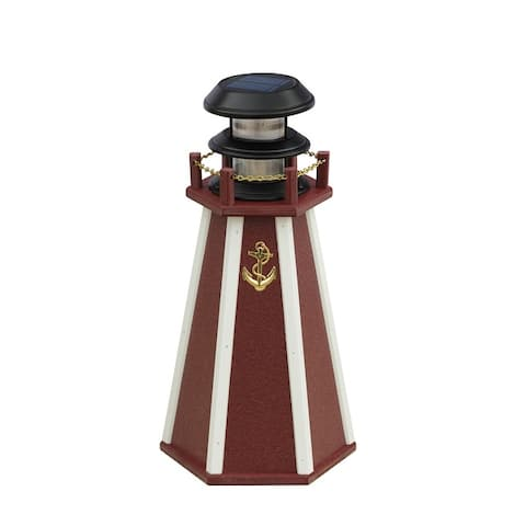 """18"""" Solar Poly Accent Lighthouse"""