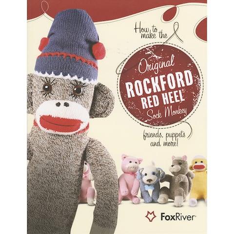 Red Heel Sock Monkey Pattern Book-