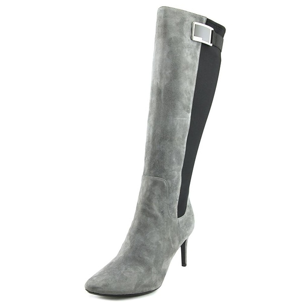 Calvin Klein Jaidia Pointed Toe Leather Knee High Boot