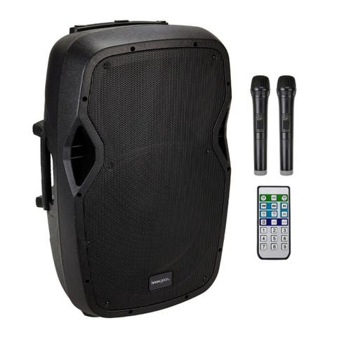 Knox Gear Portable Rechargeable Karaoke Machine with Microphones
