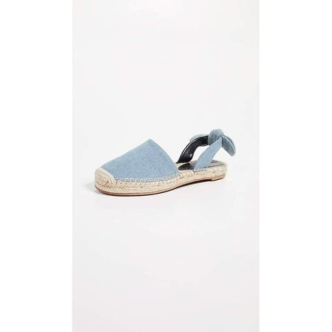 cupcakes and cashmere Womens Jamille Fabric Round Toe Slide Flats