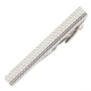Trafalgar Raised Dot Tie Clip Silver