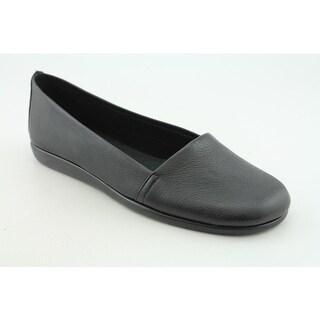 Aerosoles Mr Softee Women Round Toe Leather Black Loafer