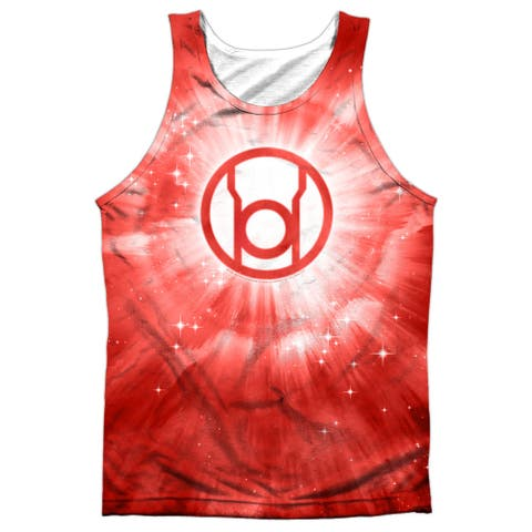 3283a597f613 Green Lantern Red Energy Mens Sublimation Polyester Tank Top Shirt (White, X -Large