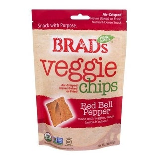 Brad's Plant Based Organic Chips - Red Bell Peppers - Case of 12 - 3 oz