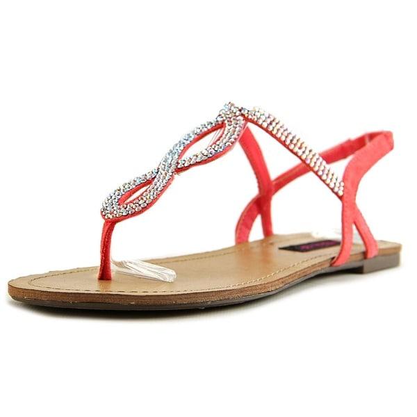 Material Girl Selena Women Open-Toe Canvas Orange Slingback Sandal