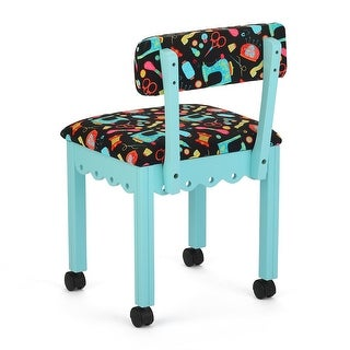 """Arrow 7019B Chair In Blue And Riley Blake Black Upholstery - 1"""" x 1"""" x 1"""""""