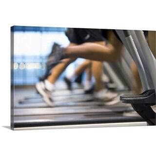 """People on treadmills"" Canvas Wall Art"