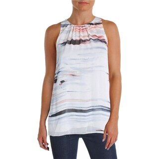 Vince Camuto Womens Casual Top Printed Ruched-Neck (2 options available)