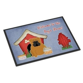 Carolines Treasures BB2876MAT Dog House Collection English Bulldog Red Indoor or Outdoor Mat 18 x 0.25 x 27 in.