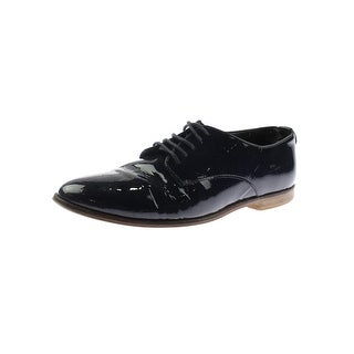 Dune London Womens Flossy Oxfords Patent Leather Stacked Heel - 7 medium (b,m)